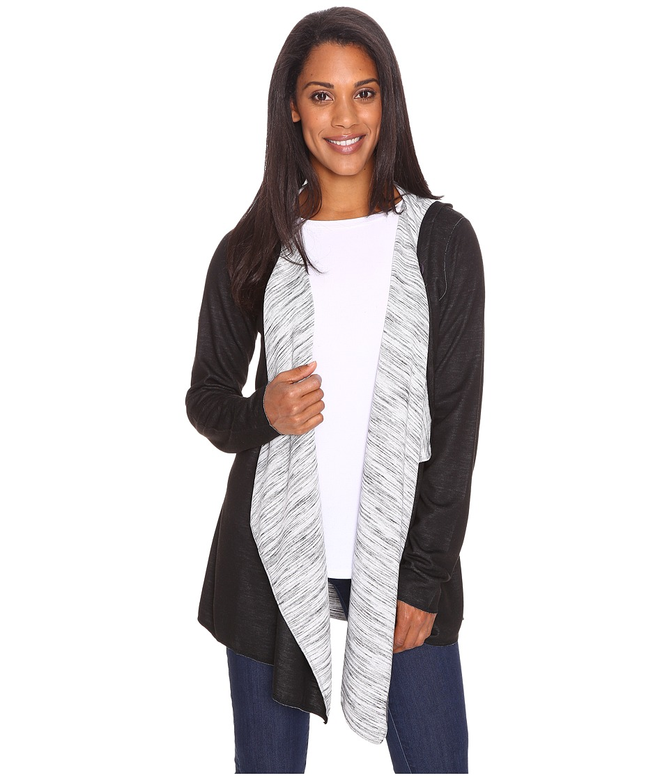 ExOfficio Adana Reversible Hooded Wrap (Black) Women
