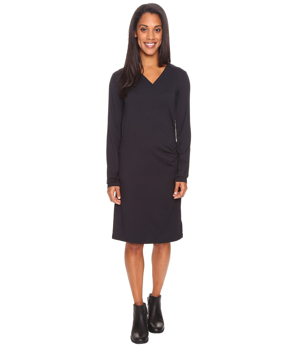 ExOfficio - Wanderlux Draped Dress (Black) Women's Dress