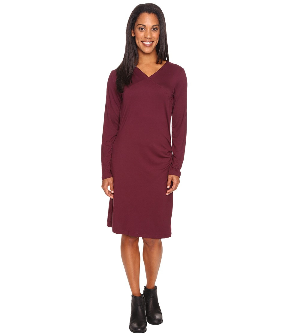 ExOfficio Wanderlux Draped Dress (Brandy) Women
