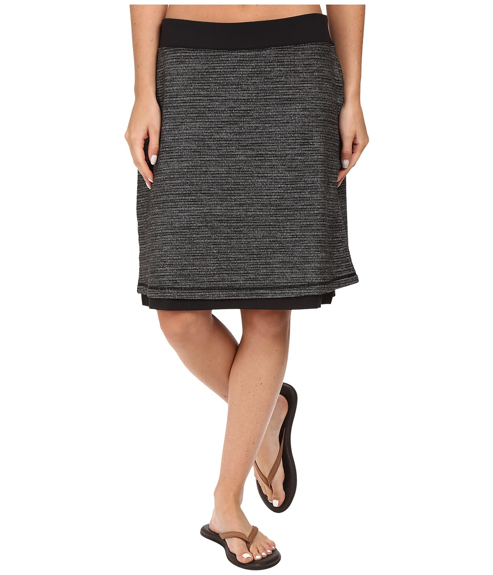 ExOfficio Wanderlux Jacquard Reversible Skirt (Charcoal Heather) Women