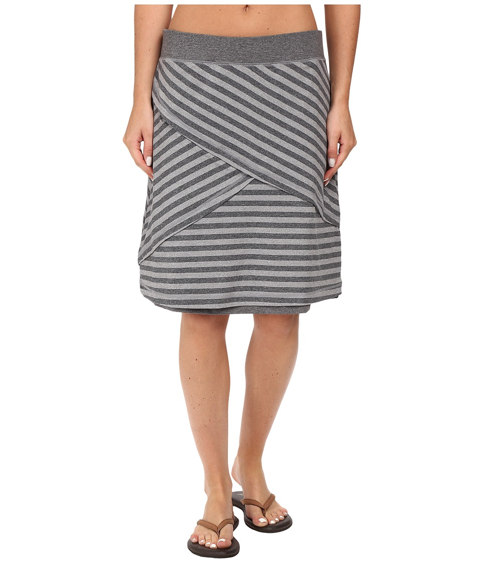 ExOfficio - Wanderlux Stripe Reversible Skirt (Charcoal Heather) Women's Skirt
