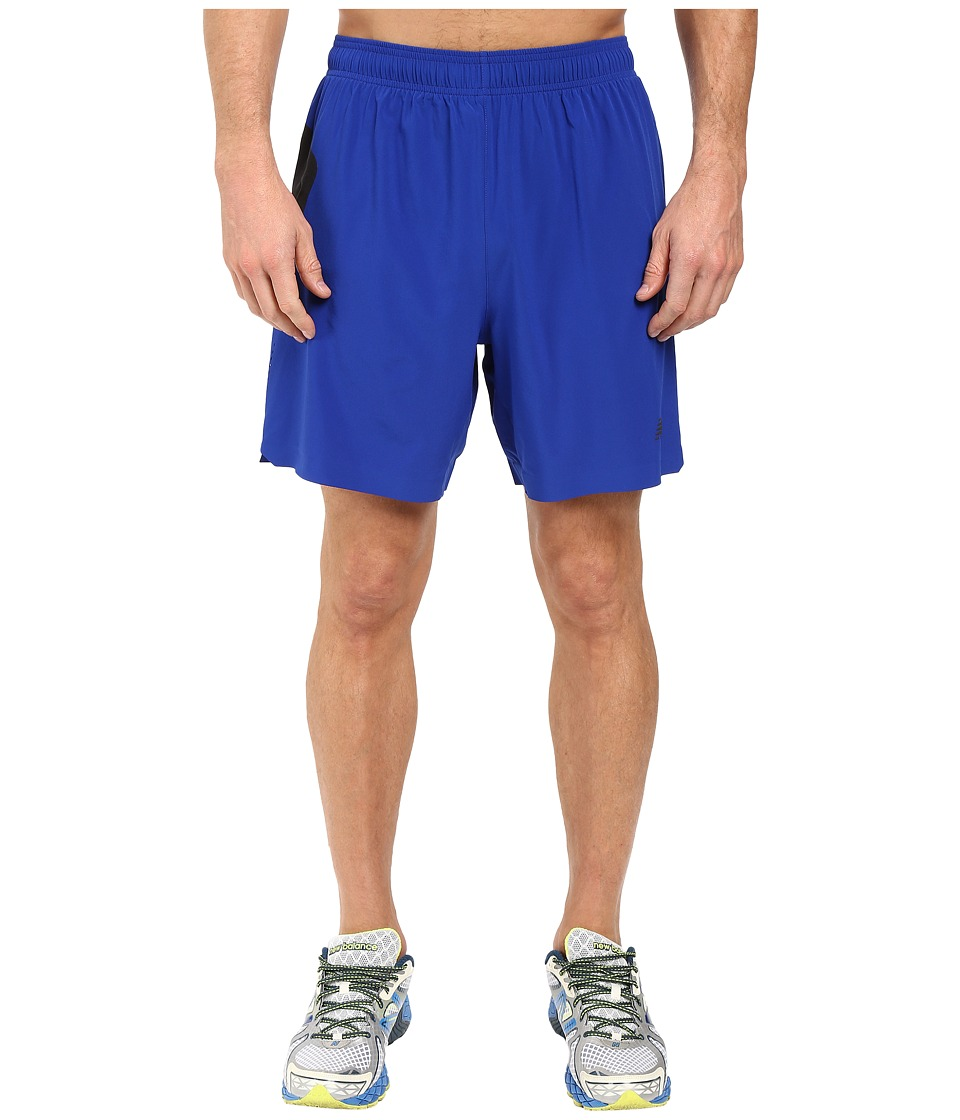 New Balance - 7 Stretch Woven Short (Marine Blue/Black) Men's Shorts