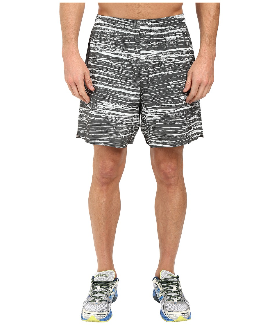 New Balance 7 Stretch Woven Print Shorts (Droplet/Galaxy) Men