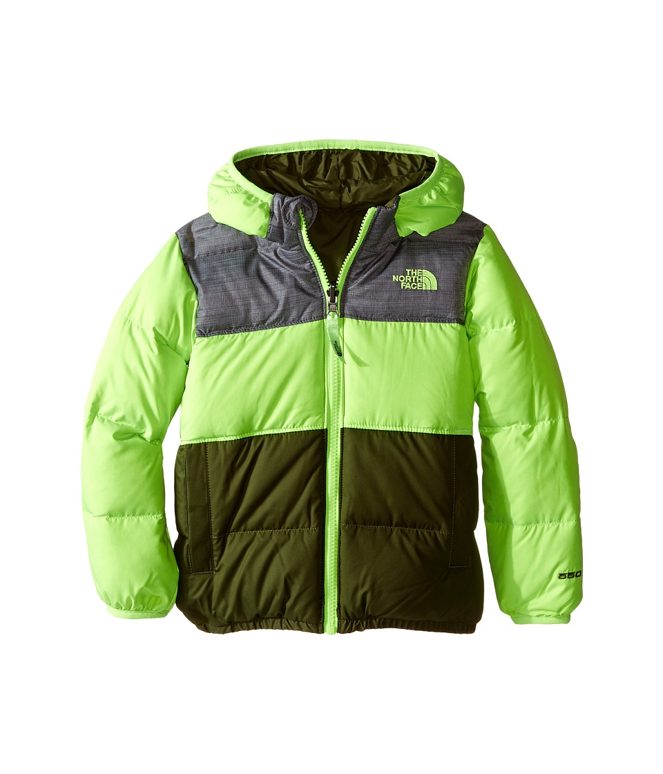 The North Face Kids Reversible Moondoggy Jacket (Toddler) (Safety Green) Boy