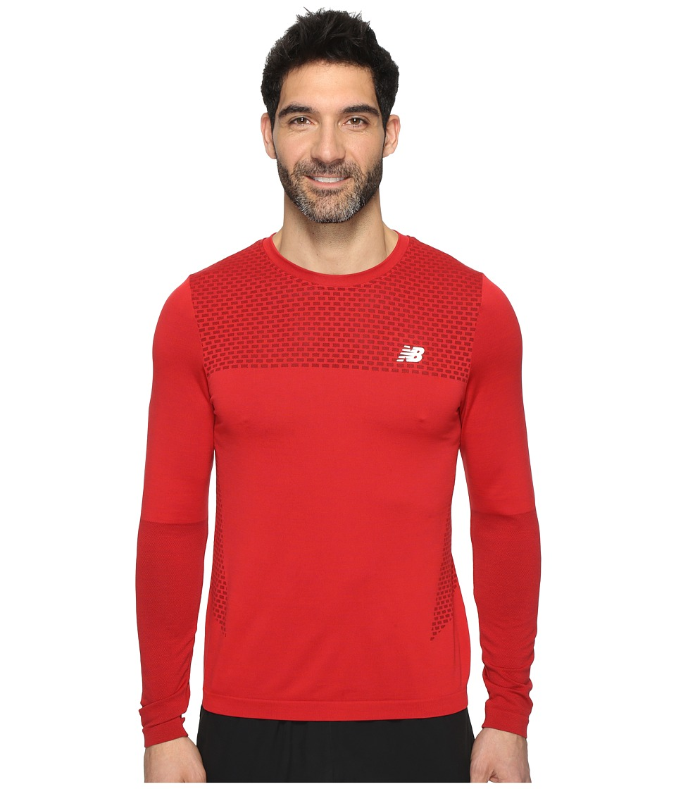 New Balance - M4M Seamless Long Sleeve Top (Atomic) Men's Long Sleeve Pullover