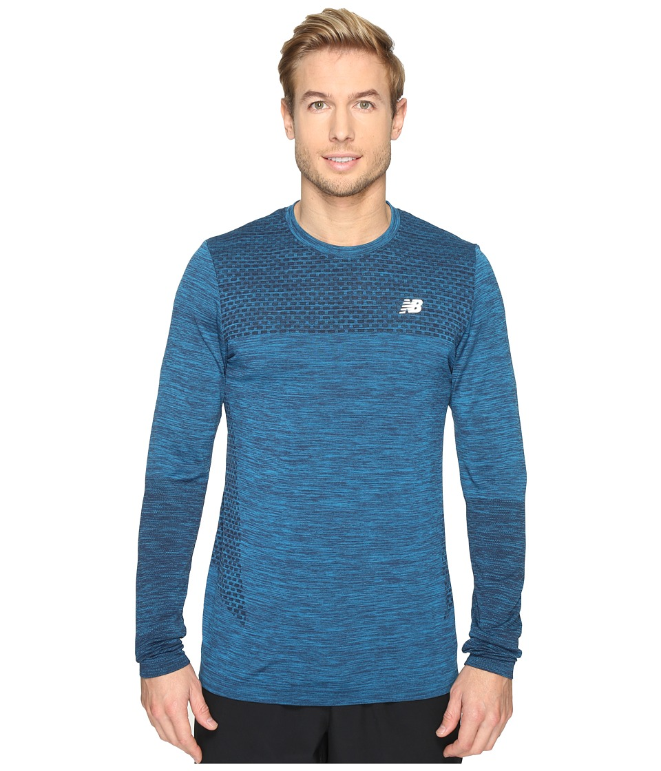 New Balance - M4M Seamless Long Sleeve Top (Barracuda) Men's Long Sleeve Pullover