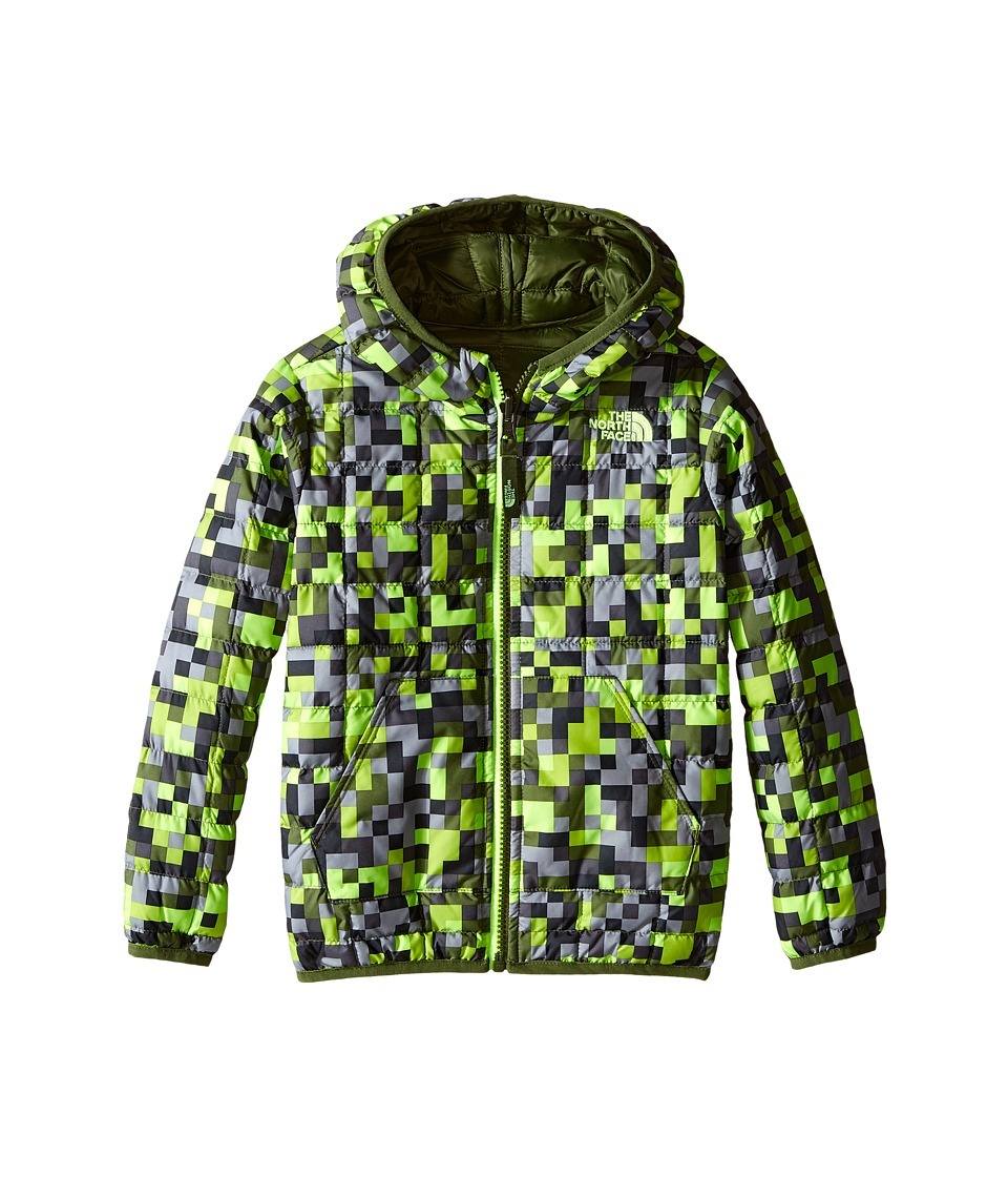 The North Face Kids - Reversible Thermoball Hoodie (Toddler) (Safety Green Pixel Print) Kid's Sweatshirt