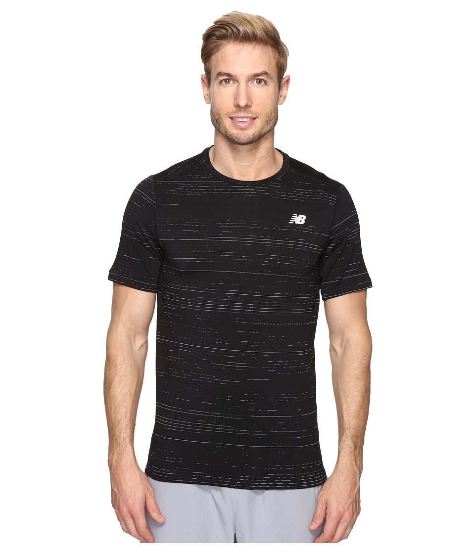 New Balance - Max Speed Short Sleeve Top (Black) Men's Short Sleeve Pullover