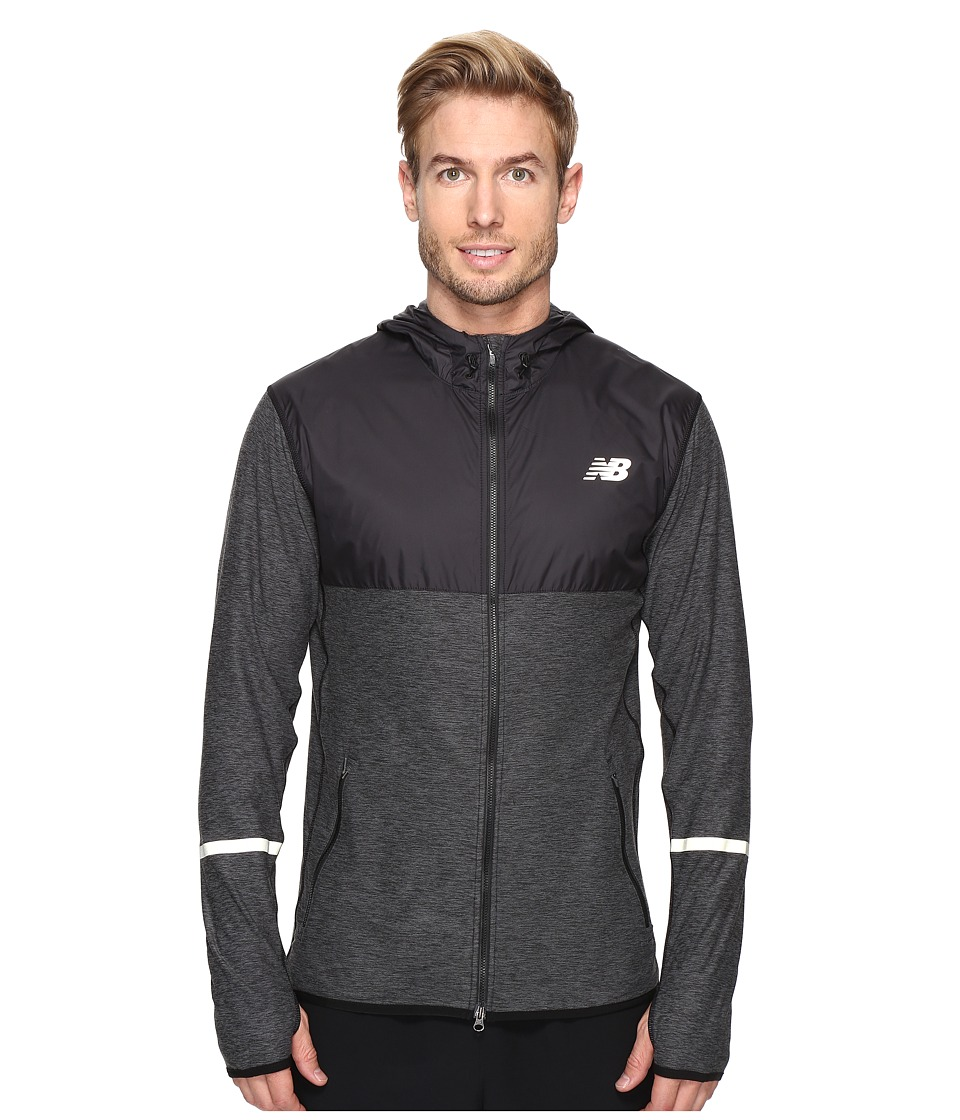 New Balance - Transit Hoodie (Black Heather) Men's Sweatshirt