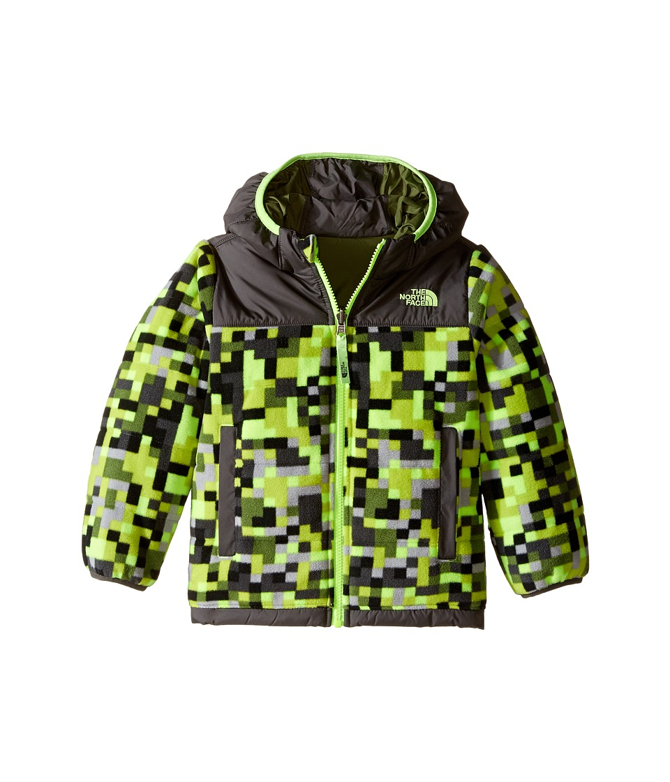 The North Face Kids Reversible True Or False Jacket (Toddler) (Safety Green Pixel Print) Boy