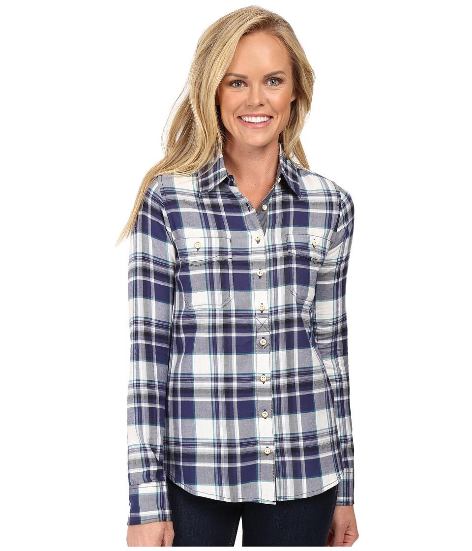 Aventura Clothing - Alyssa Long Sleeve Shirt (Blue Indigo) Women's Long Sleeve Button Up