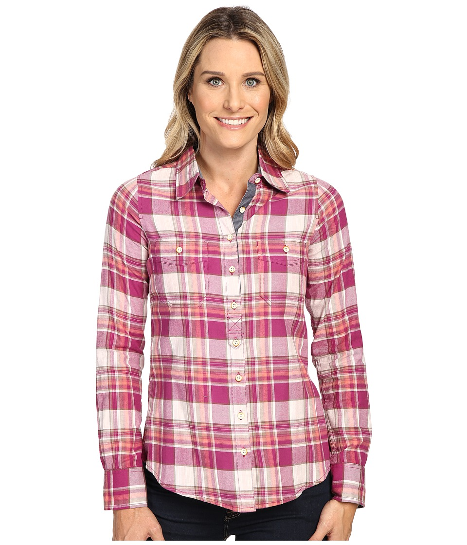 Aventura Clothing - Alyssa Long Sleeve Shirt (Raspberry Radiance) Women's Long Sleeve Button Up
