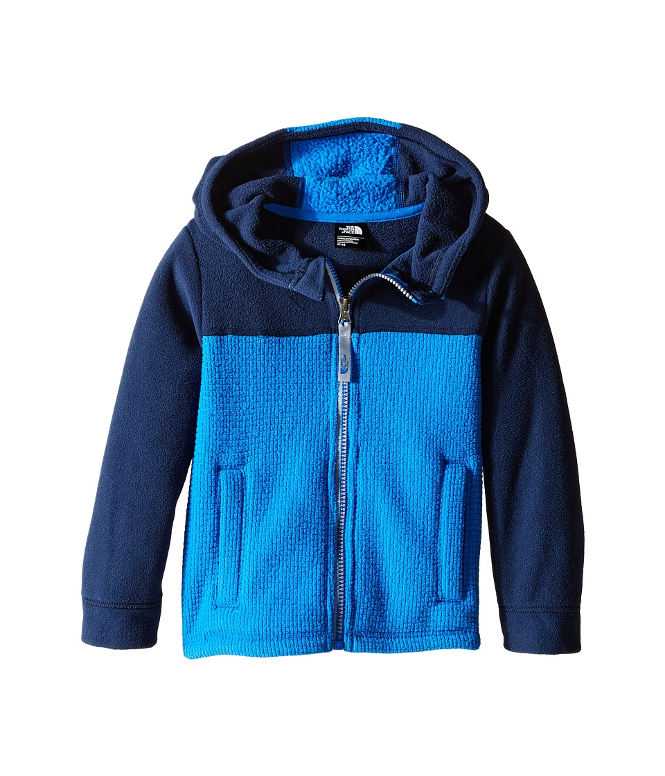 The North Face Kids - Lil' Grid Fleece Hoodie (Toddler) (Cosmic Blue) Boy's Sweatshirt
