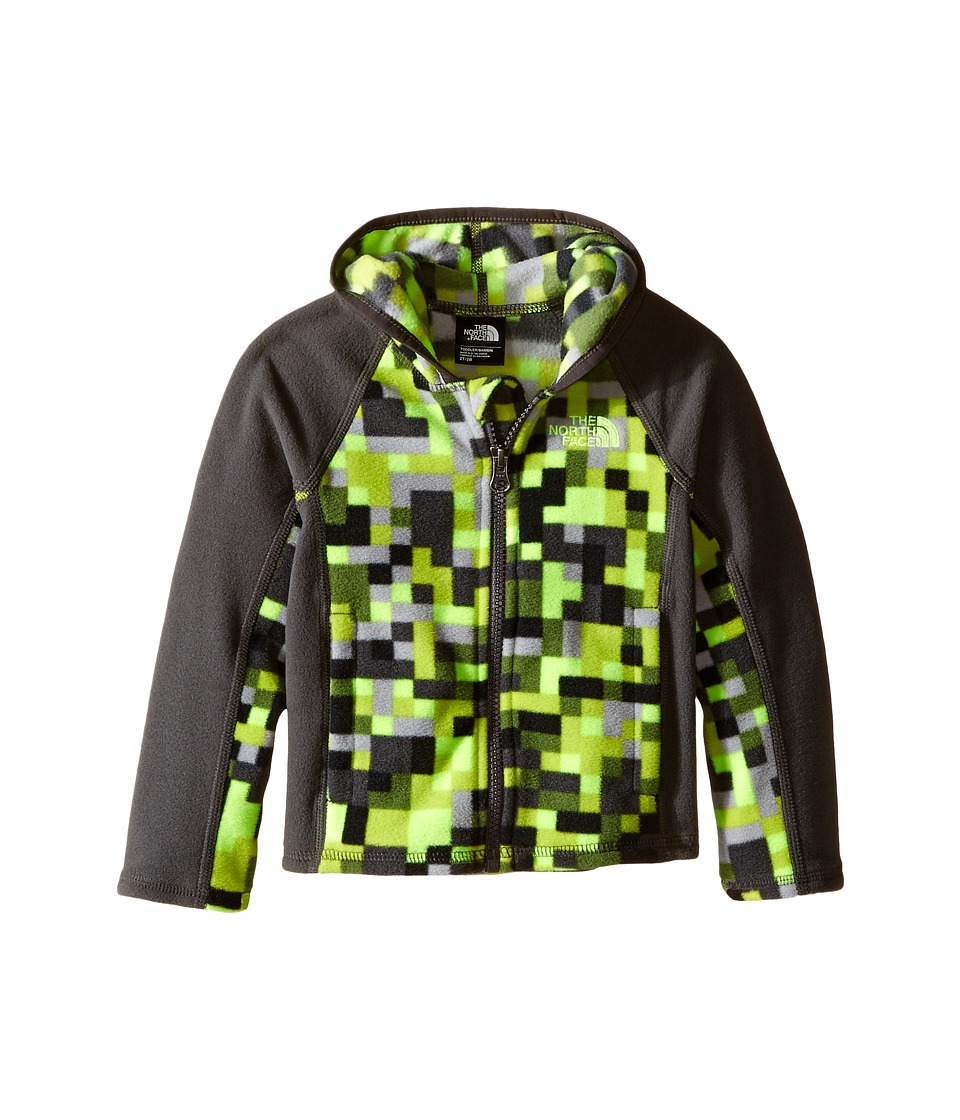 The North Face Kids - Glacier Full Zip Hoodie (Toddler) (Safety Green Pixel Print) Boy's Sweatshirt