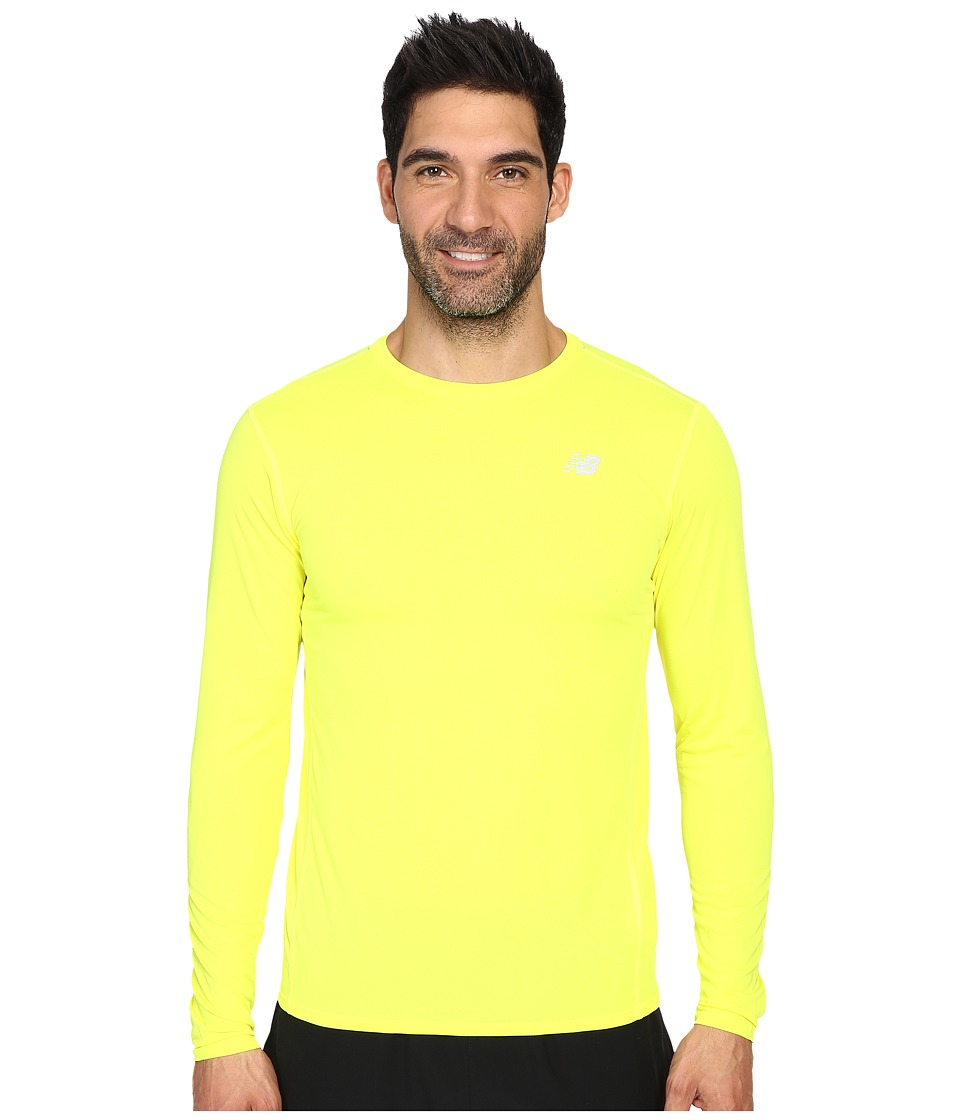 New Balance - Accelerate Long Sleeve Shirt (Firefly) Men's Long Sleeve Pullover