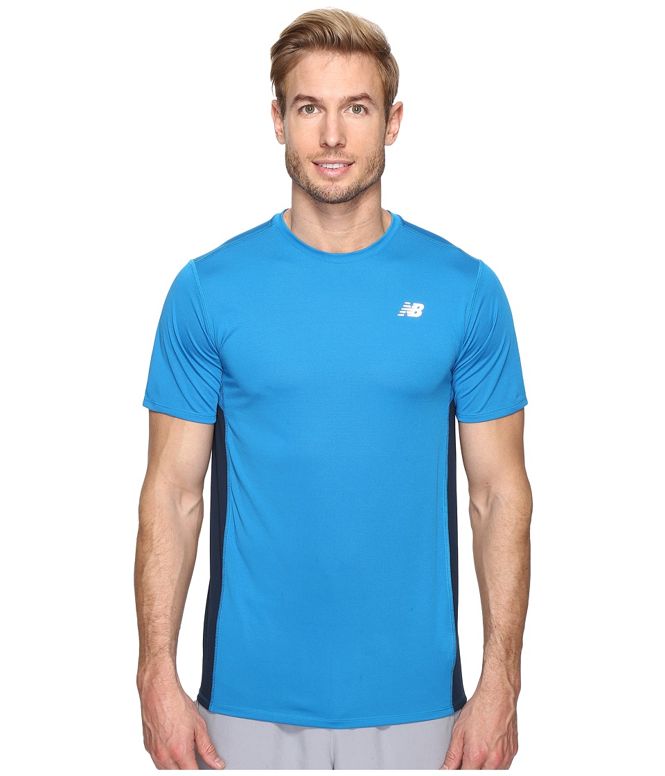 New Balance - Accelerate Short Sleeve (Barracuda/Galaxy) Men's T Shirt