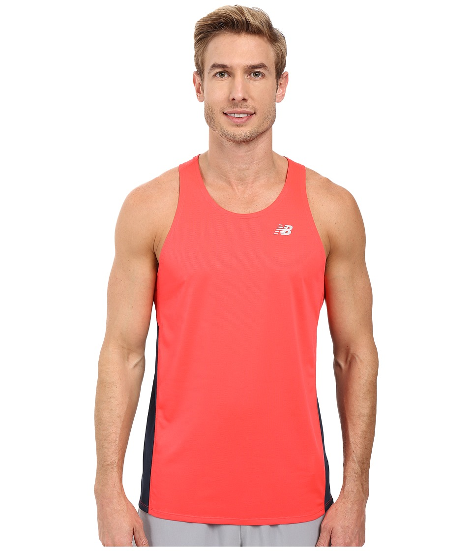 New Balance - Accelerate Singlet (Bright Cherry/Galaxy) Men's Sleeveless