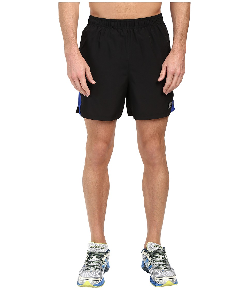 New Balance - Accelerate 5 Shorts (Black/Marine Blue) Men's Shorts