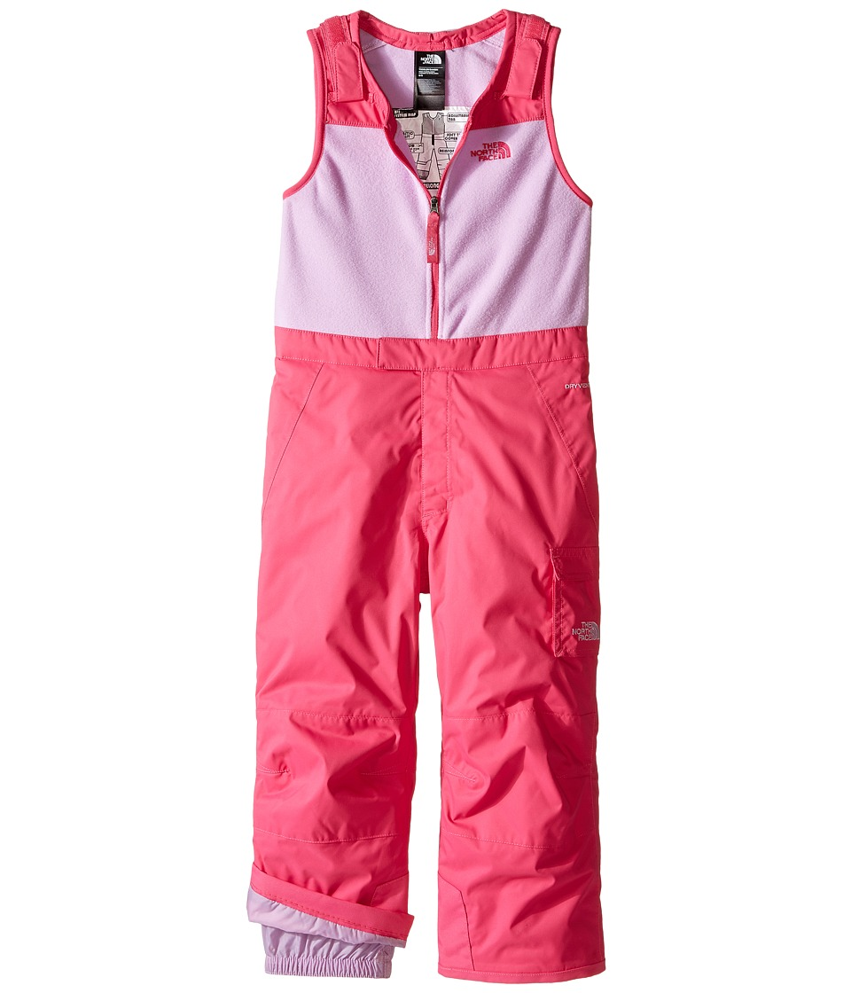 The North Face Kids - Insulated Bib (Toddler) (Cabaret Pink) Girl's Snow Bibs One Piece