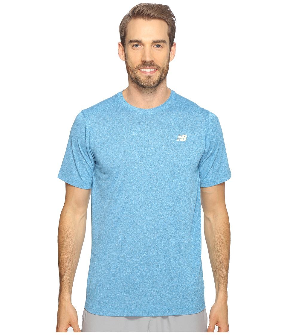 New Balance - Short Sleeve Heather Tech Tee (Barracuda Heather) Men's T Shirt