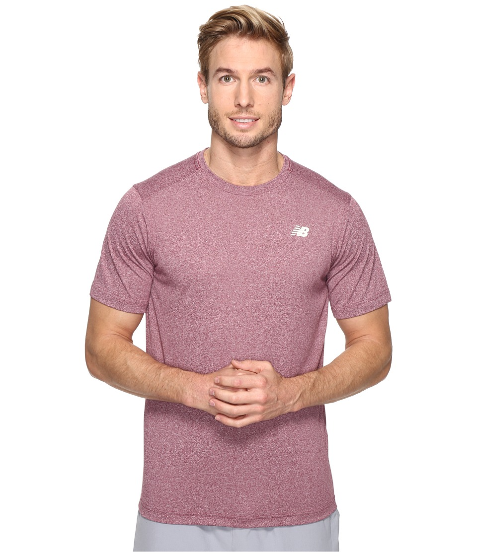 New Balance - Short Sleeve Heather Tech Tee (Sedona Heather) Men's T Shirt