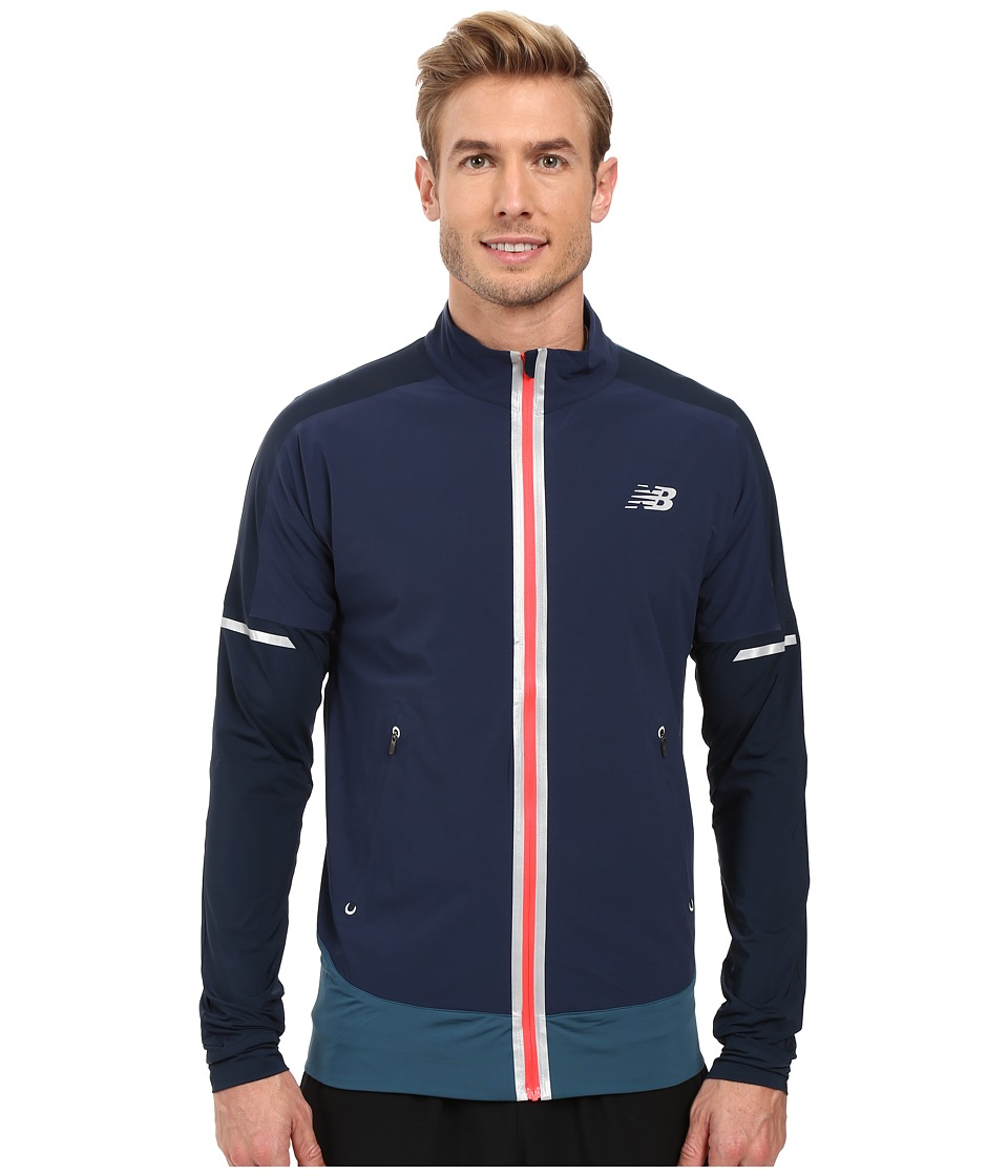 New Balance - Precision Run Jacket (Galaxy/Castaway/Bright Cherry) Men's Coat