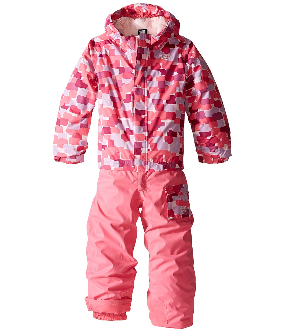 The North Face Kids - Insulated Jumpsuit (Toddler) (Cabaret Pink Block Print (Prior Season)) Girl's Jumpsuit & Rompers One Piece