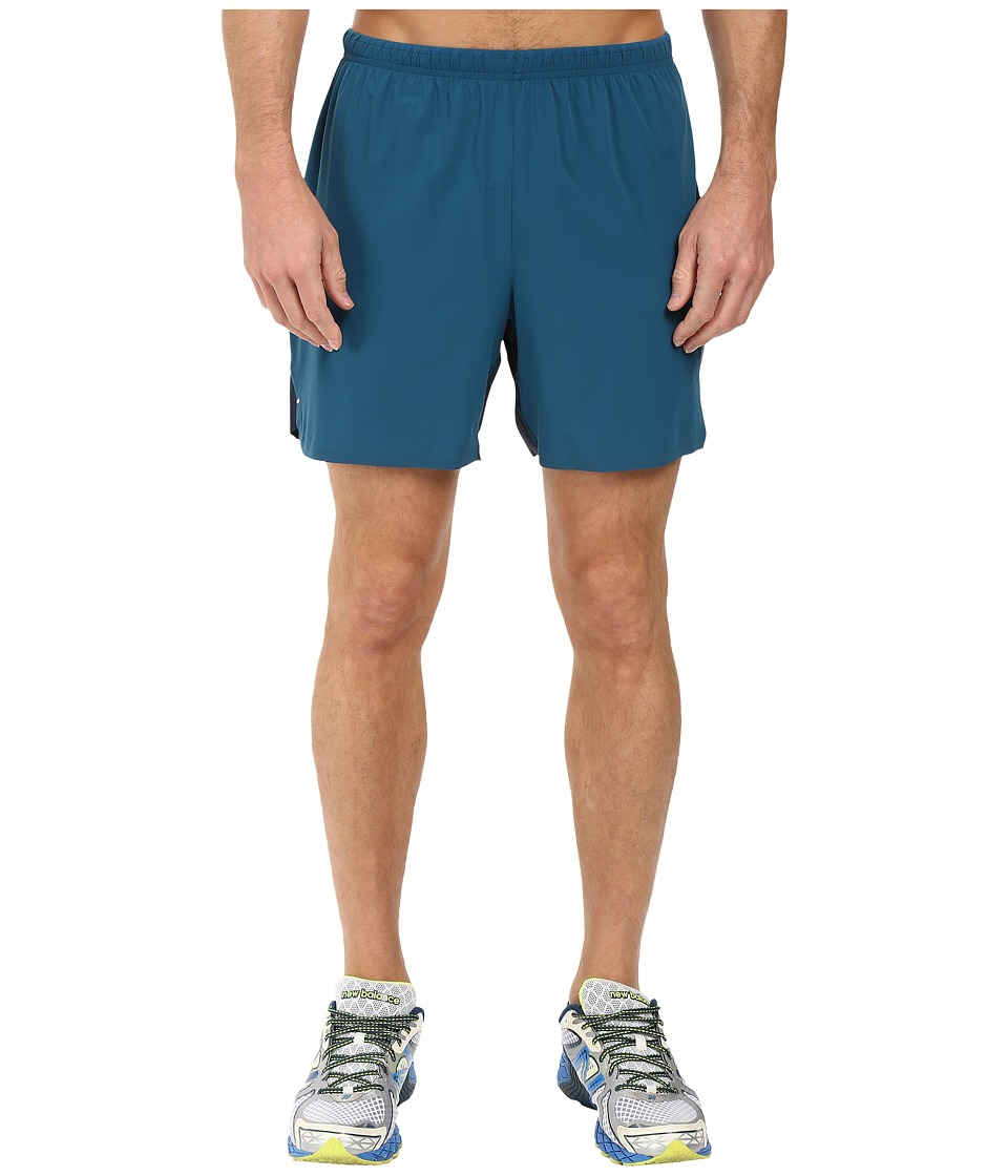 New Balance - Precision Run Hybrid 6 Shorts (Castaway/Galaxy) Men's Shorts