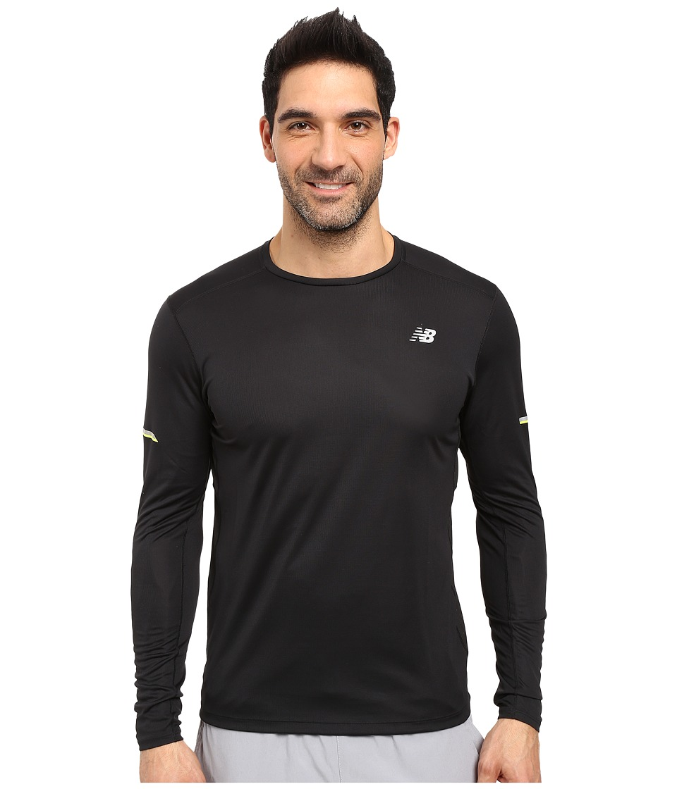 New Balance - NB Ice Long Sleeve Top (Black) Men's Long Sleeve Pullover