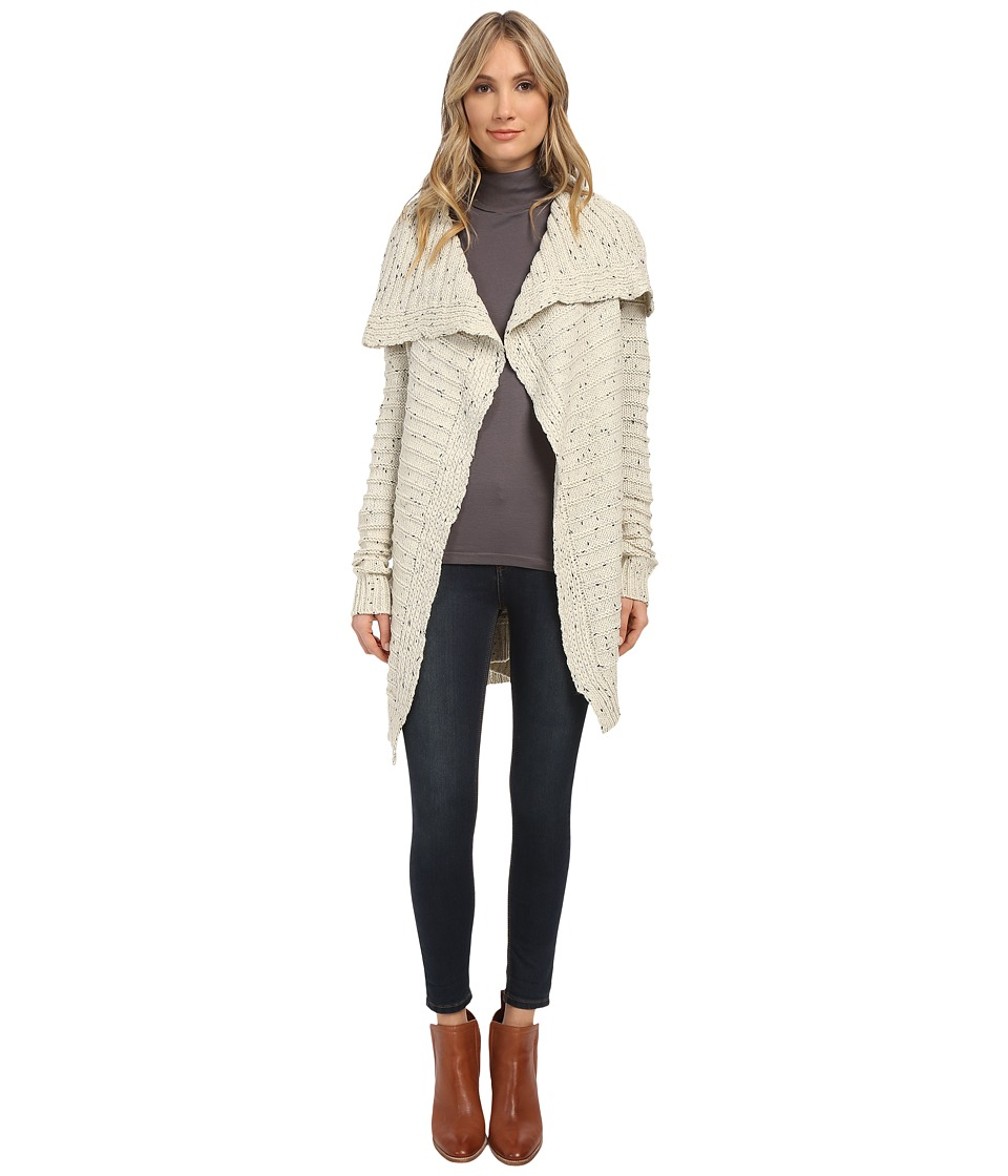 Brigitte Bailey - Raquel Oversized Lapel Cardigan (Cream) Women