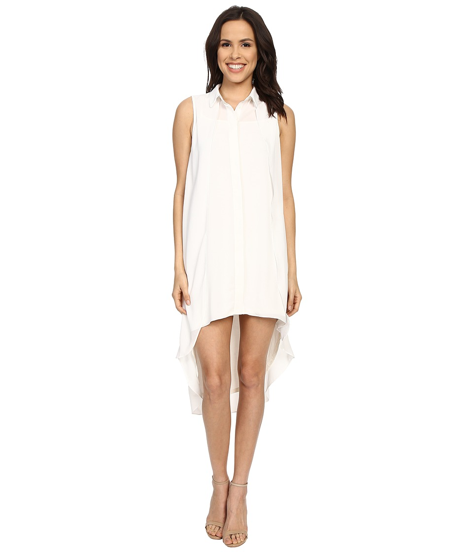 Brigitte Bailey - Siomara Sleeveless High-Low Dress with Collar (Off-White) Women's Dress