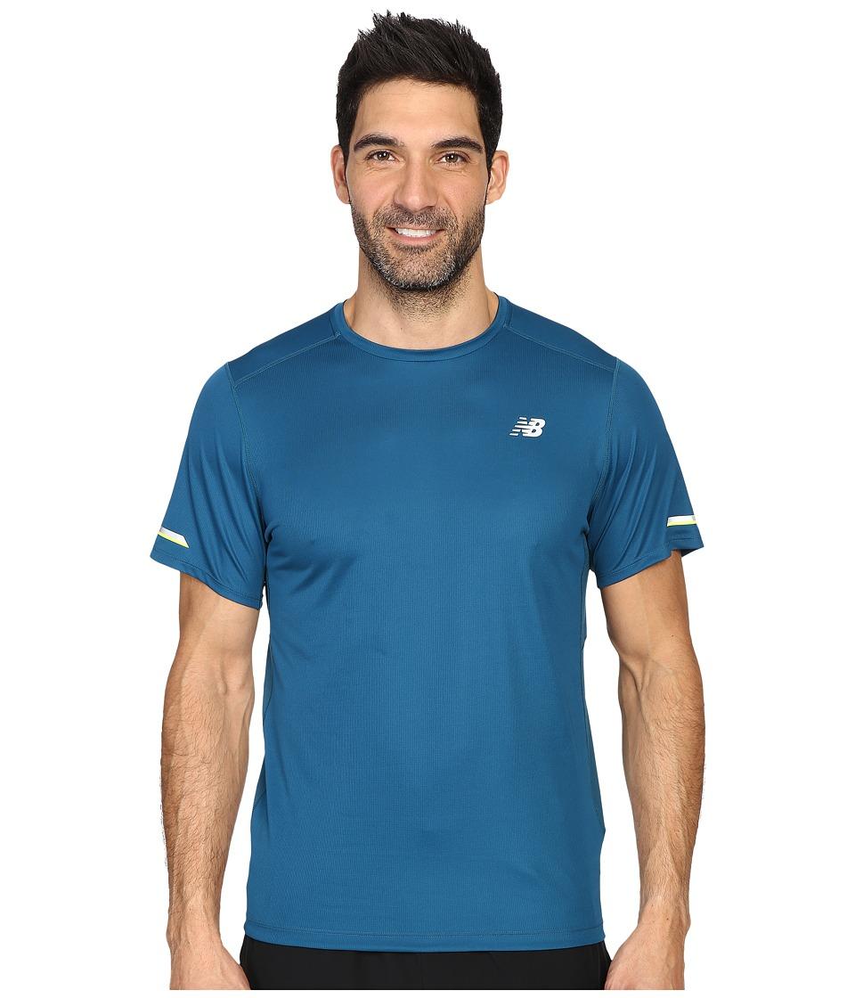 New Balance - NB Ice Short Sleeve Top (Castaway) Men's Short Sleeve Pullover