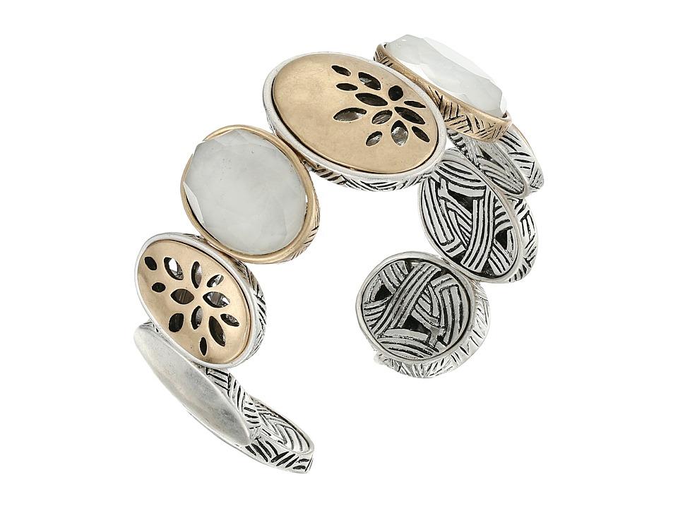 The Sak - Pierced Two-Tone Flex Cuff Bracelet (Two-Tone) Bracelet