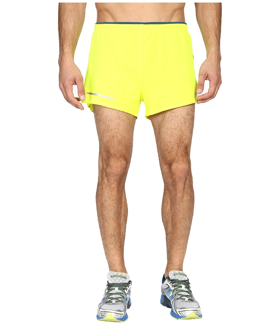 New Balance - Impact 3 Split Shorts (Firefly/Galaxy) Men's Shorts