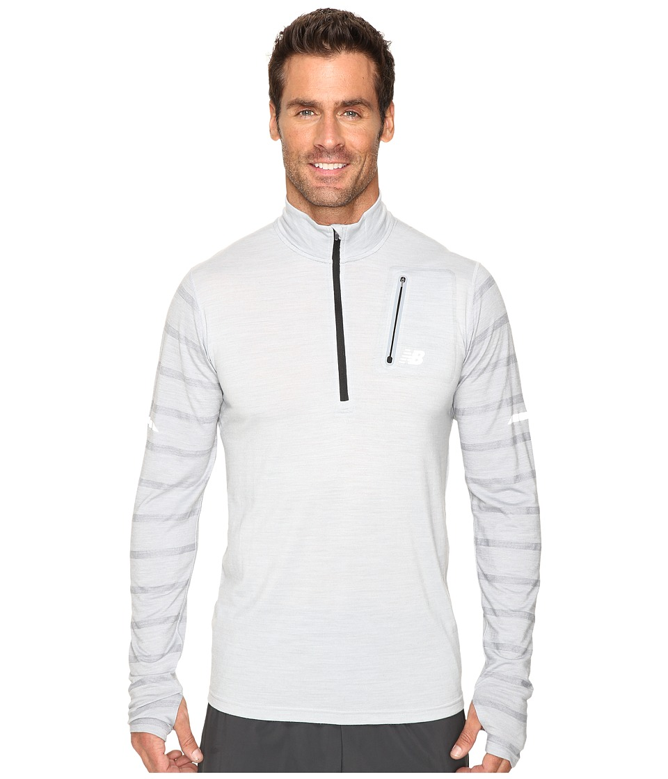 New Balance - Performance Merino Half Zip Top (Athletic Grey) Men's Long Sleeve Pullover