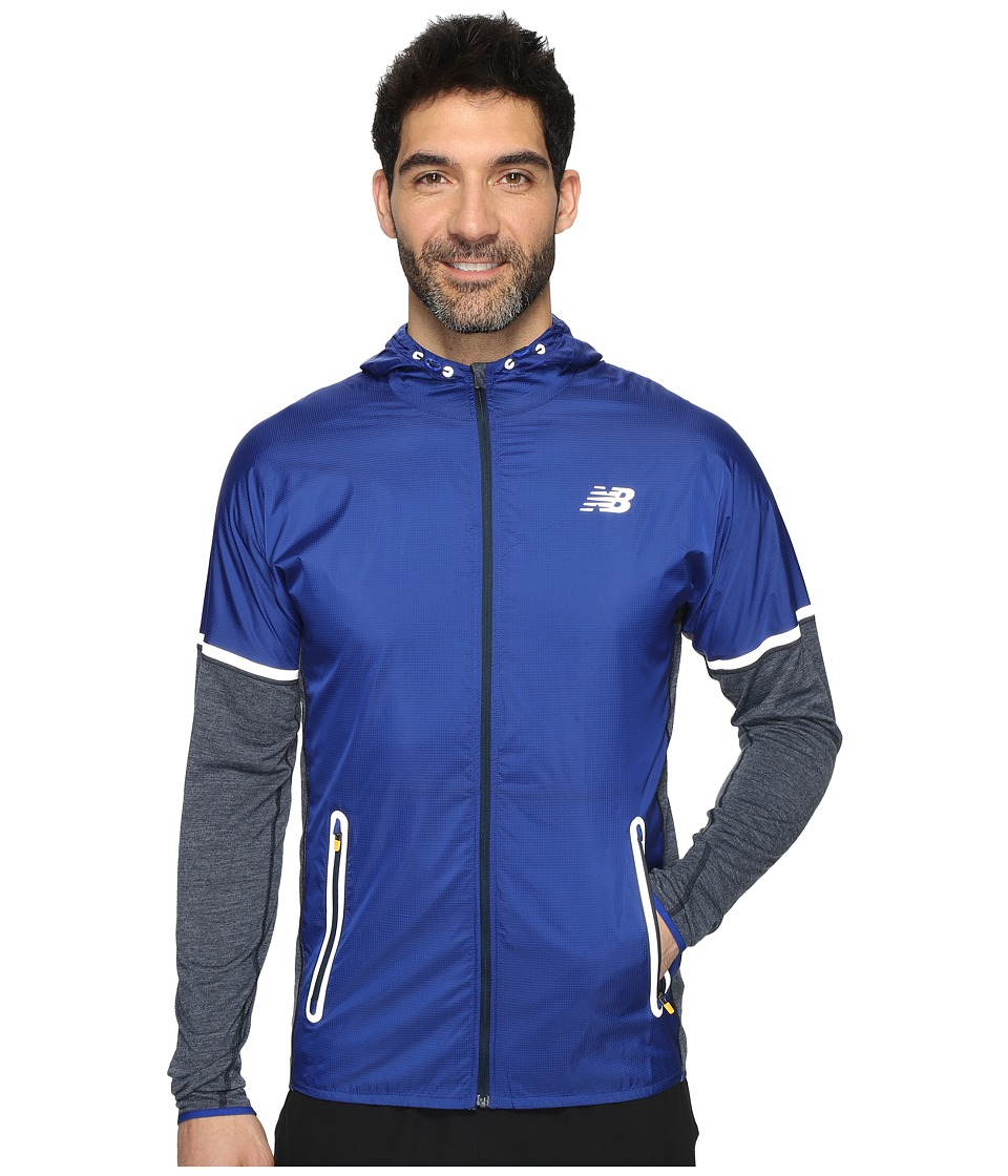 New Balance - Performance Merino Hybrid Jacket (Galaxy Heather/Galaxy) Men's Coat