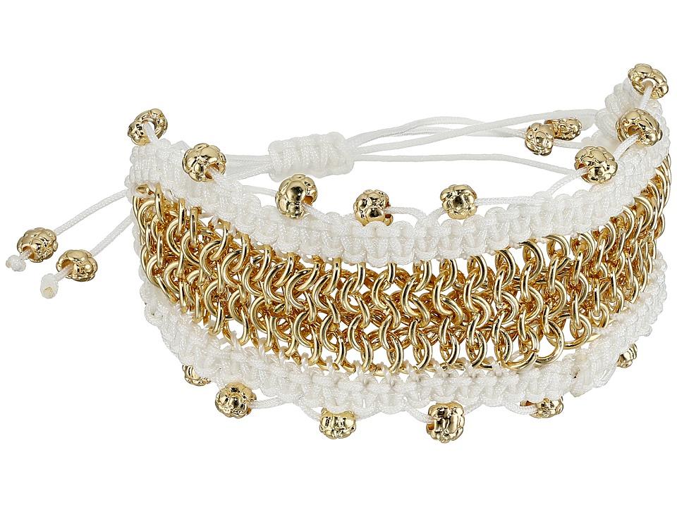 Sam Edelman - Chainmail Macrame Bracelet (White) Bracelet