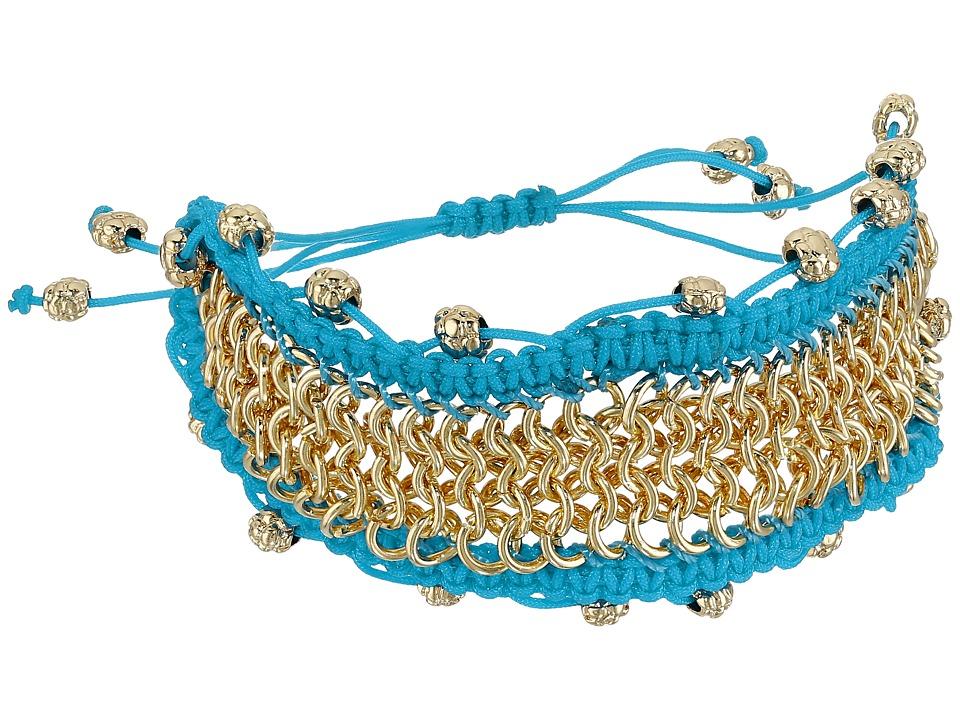Sam Edelman - Chainmail Macrame Bracelet (Turquoise) Bracelet