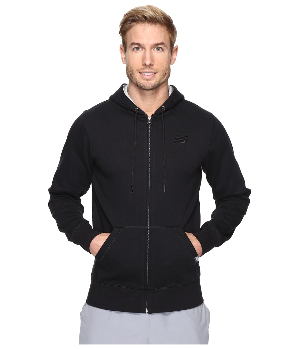 New Balance - Classic Full Zip Hoodie (Black) Men's Sweatshirt
