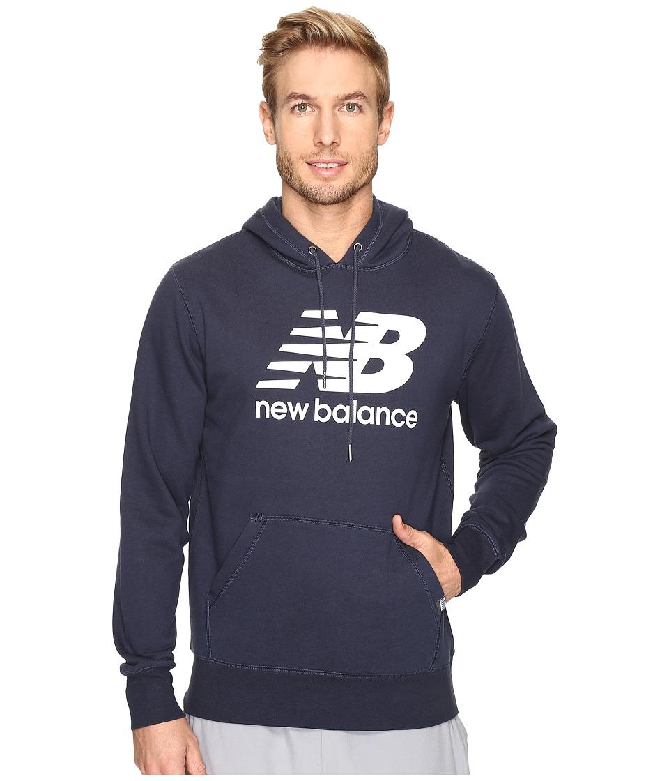 New Balance - Classic Pullover Hoodie (Navy) Men's Sweatshirt