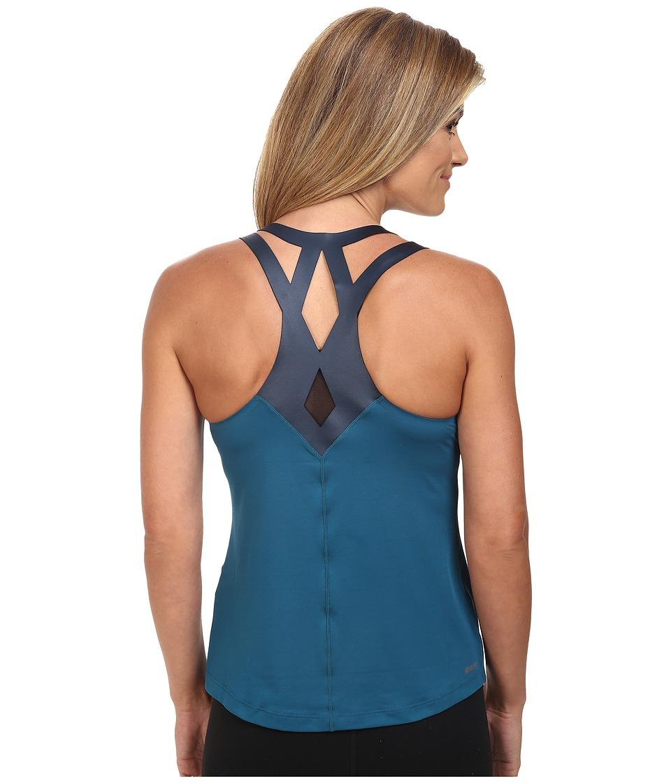 New Balance - Fashion Tank Top (Castaway/Black) Women's Sleeveless