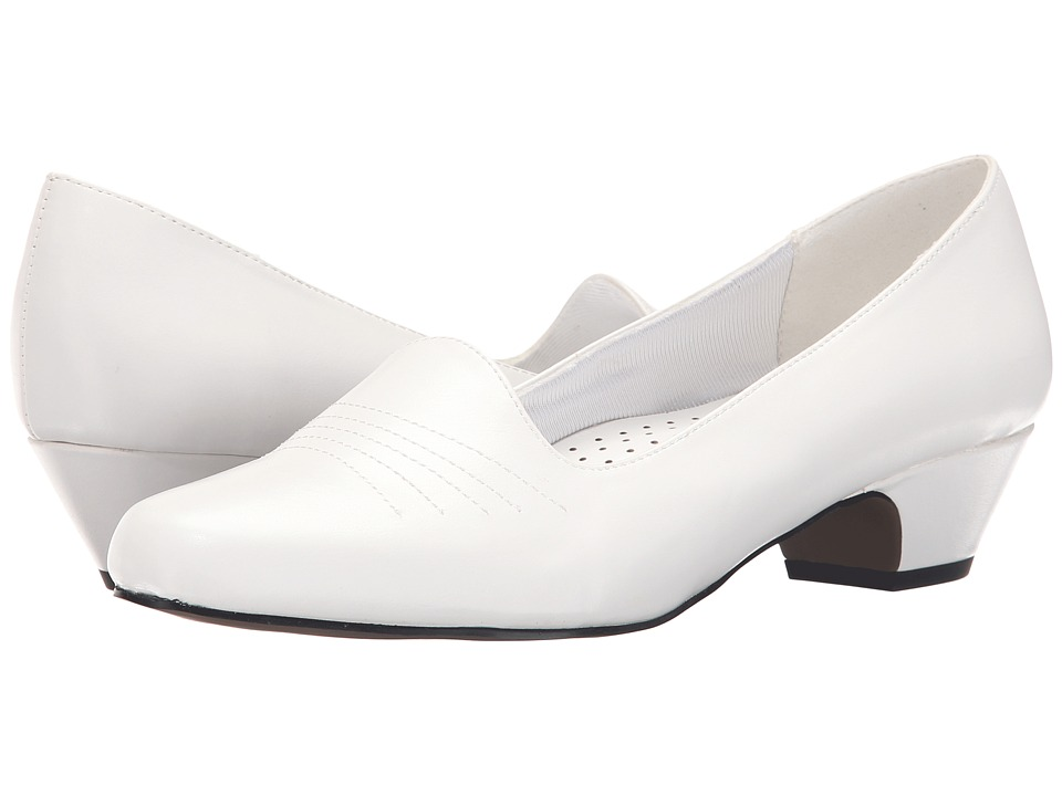 Easy Street - Grace (White) Women's 1-2 inch heel Shoes