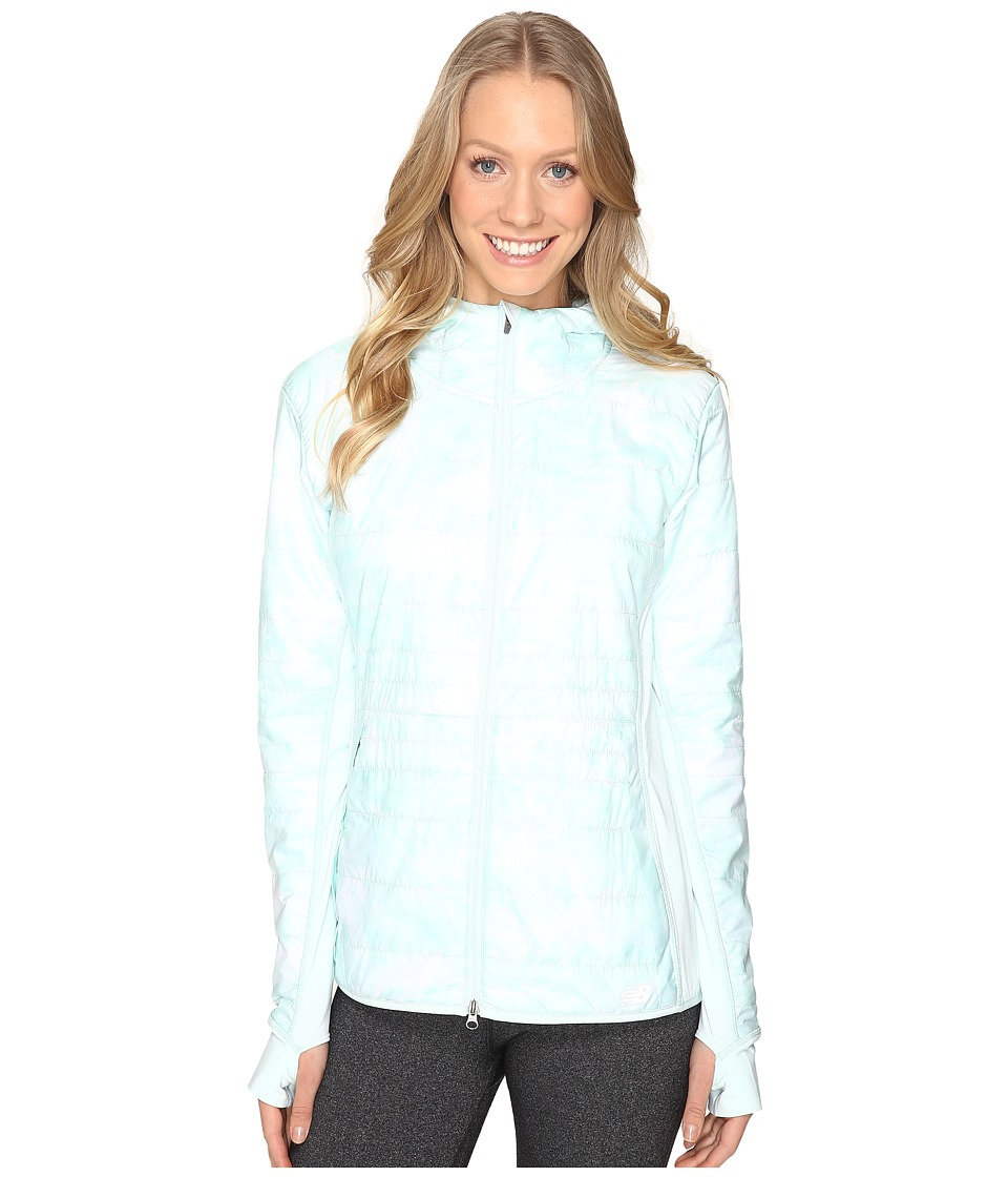 New Balance - NB Heat Hybrid Jacket (Droplet Feather Print/Droplet) Women's Coat