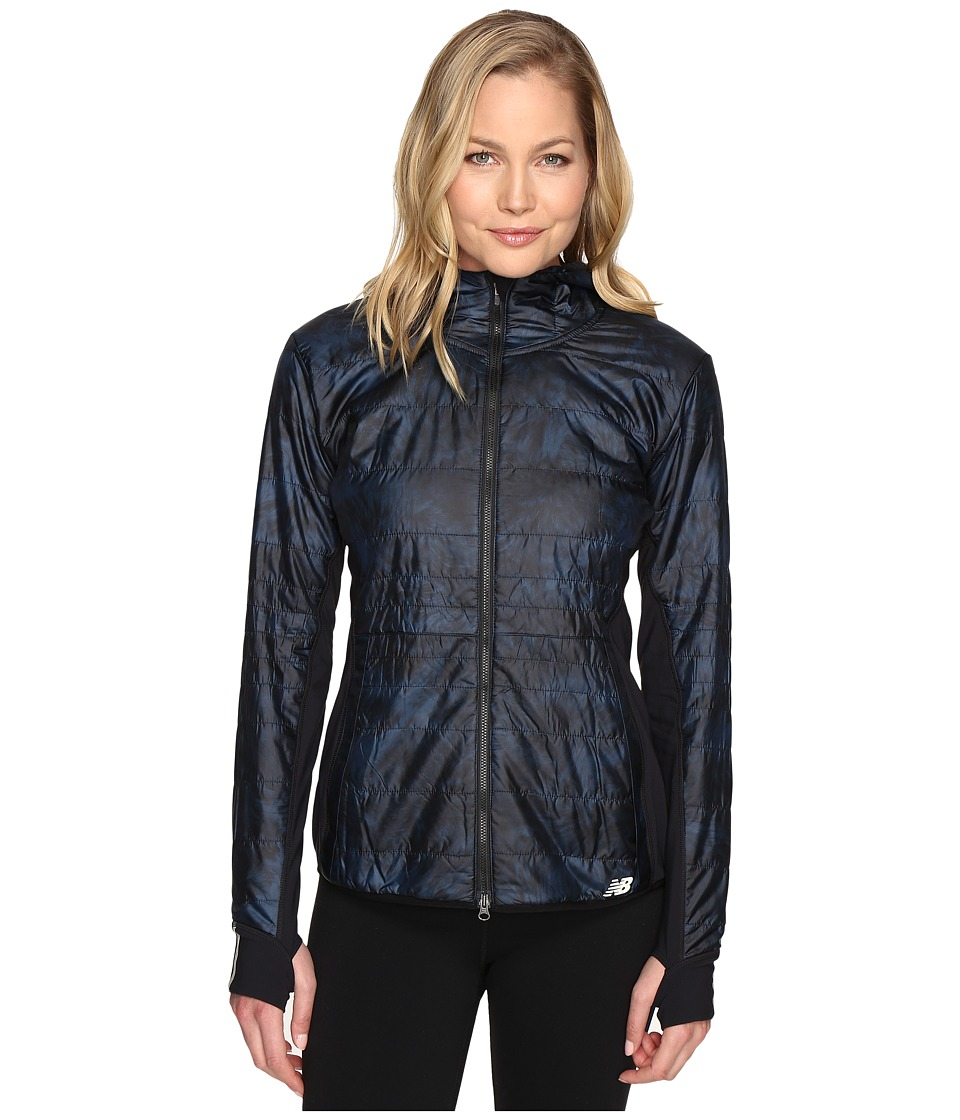 New Balance - NB Heat Hybrid Jacket (Galaxy Feather Print/Black) Women's Coat