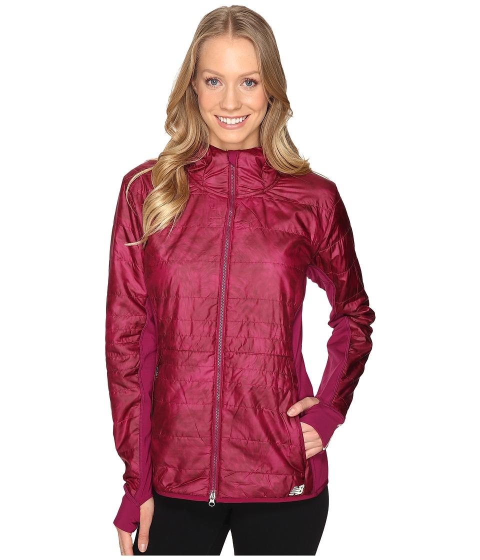 New Balance - NB Heat Hybrid Jacket (Jewel Feather Print/Jewel) Women's Coat
