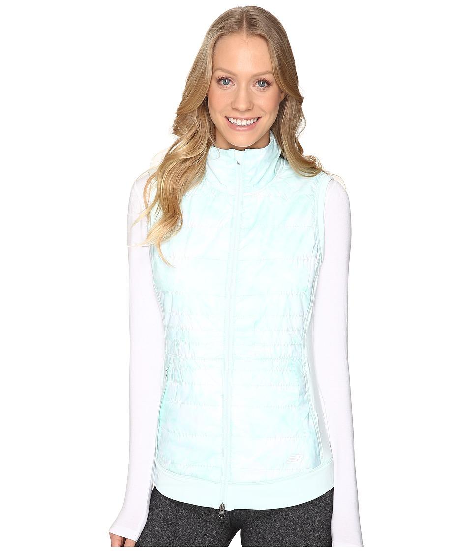 New Balance - NB Heat Hybrid Vest (Droplet Feather Print/Droplet) Women's Vest