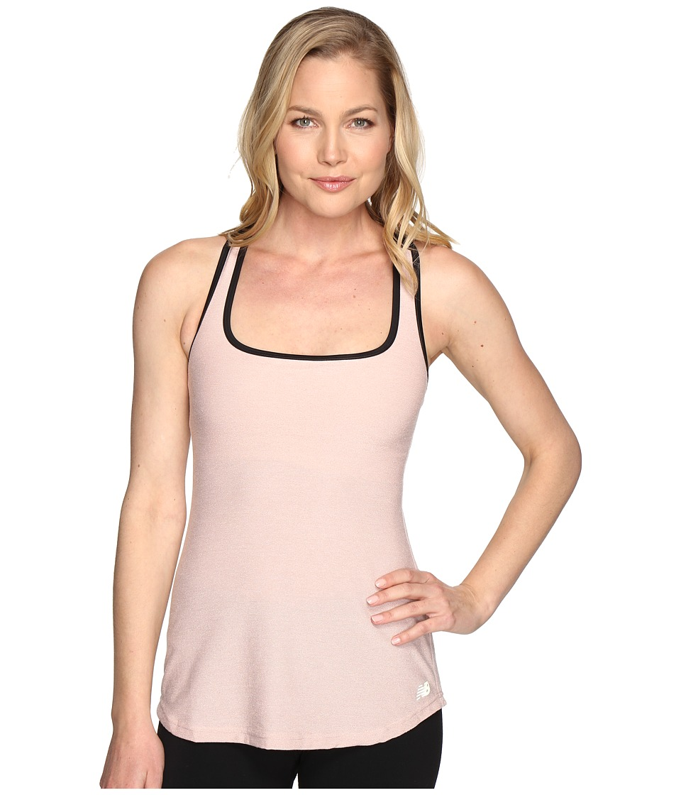 New Balance - Sparkle Knit Bra Top (Shell Pink/Black) Women's Bra