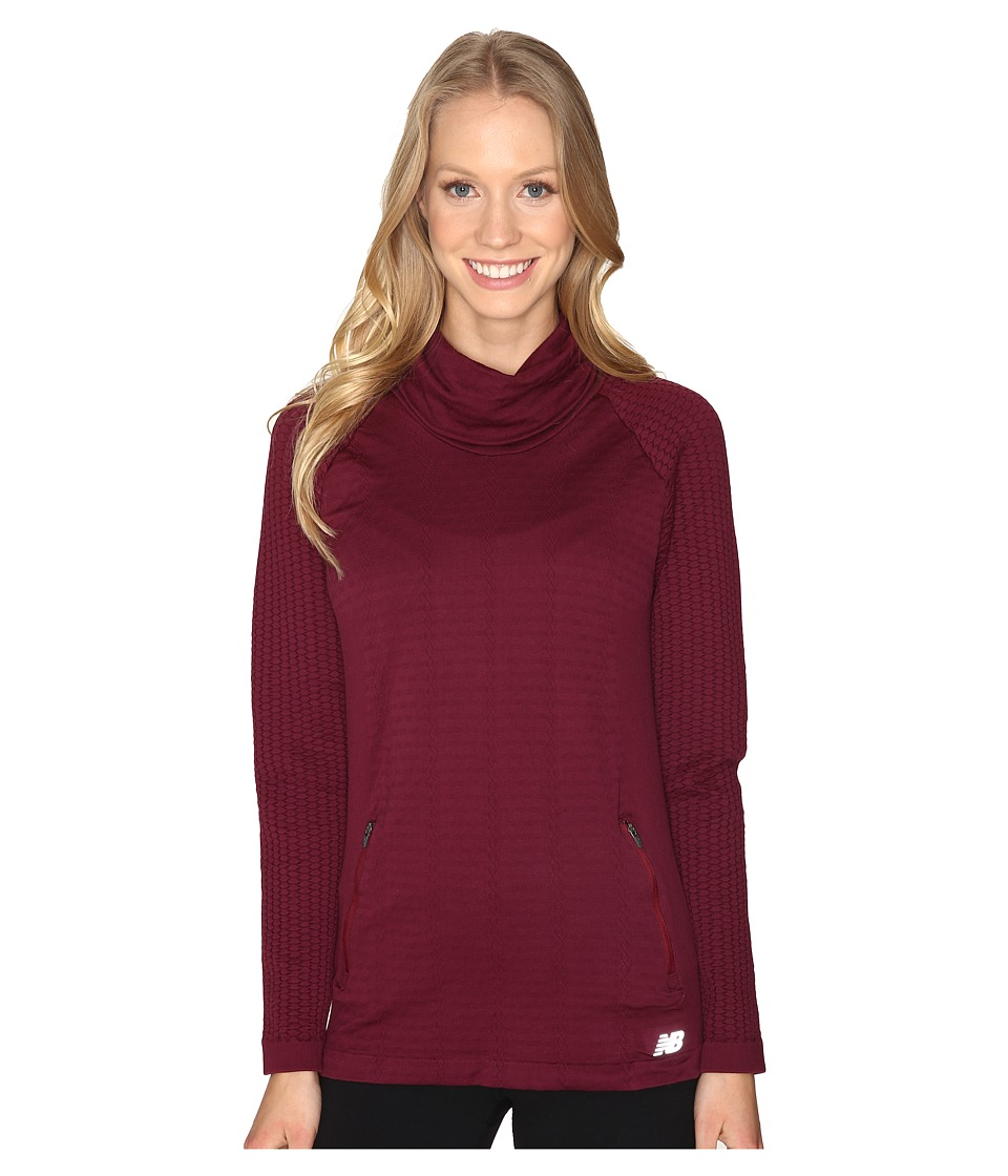 New Balance - M4M Seamless Cable Pullover (Sedona) Women's Long Sleeve Pullover
