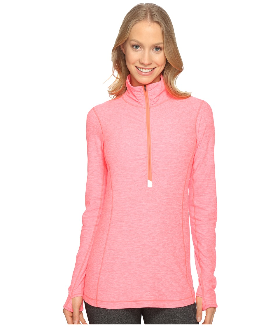 New Balance - In Transit Half Zip Jacket (Guava Heather) Women's Long Sleeve Pullover