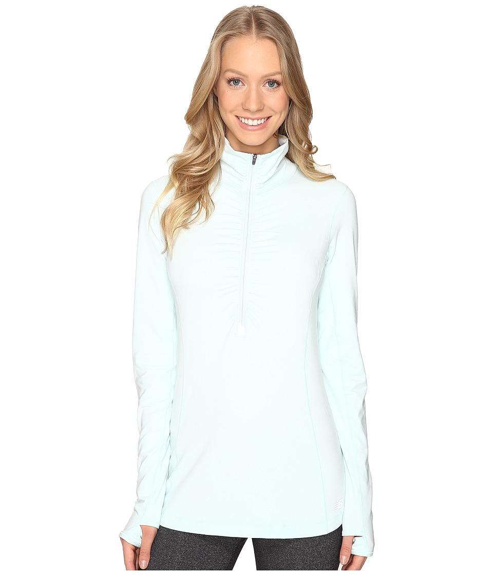New Balance - In Transit Half Zip Jacket (Droplet) Women's Long Sleeve Pullover